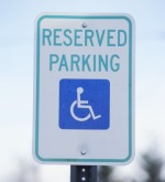 reserved parking disabled handicap