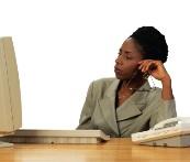 woman health insurance choice computer